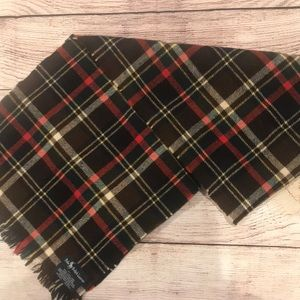 Vintage Ralph Lauren polo 100% wool plaid scarf